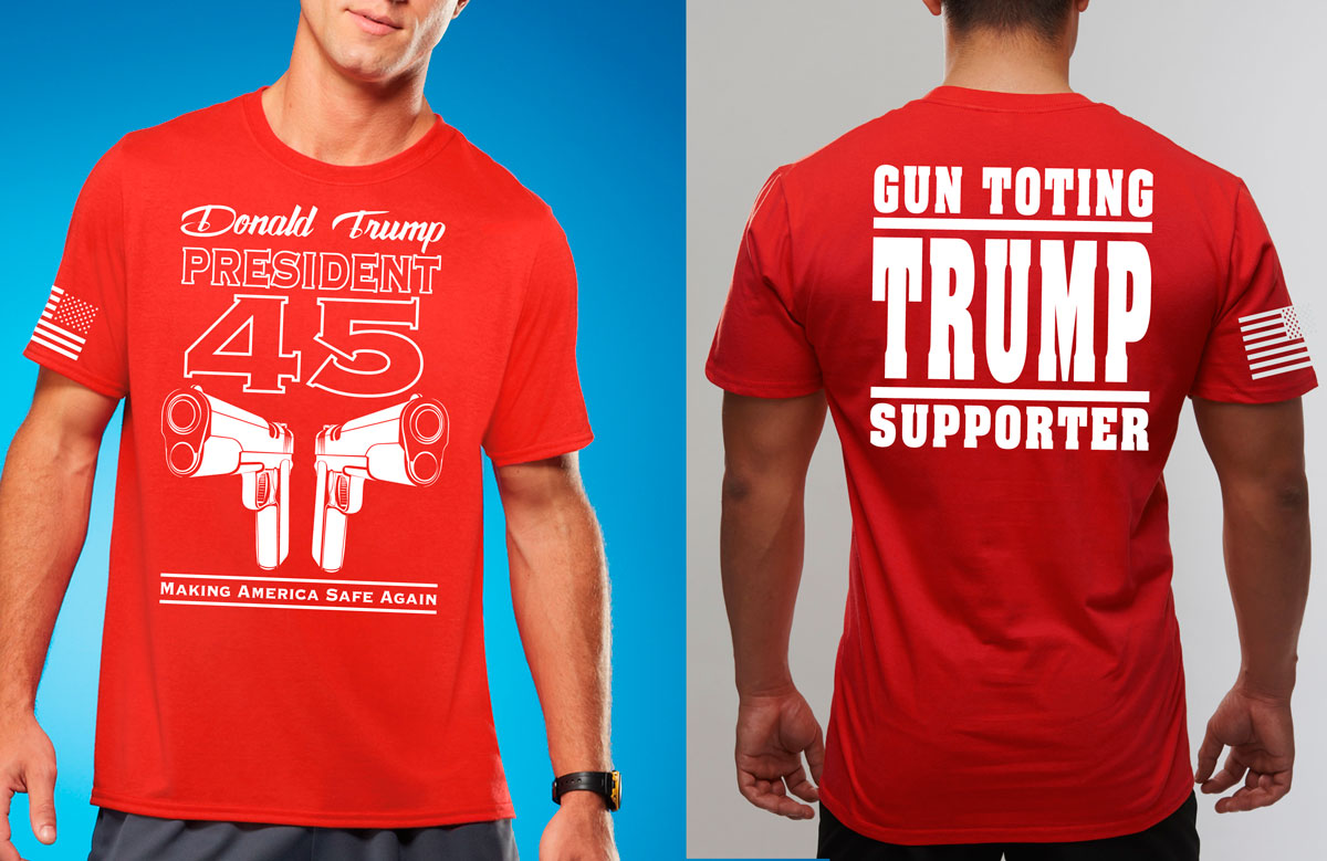 Gun Toting Trump Supporter President 45 Shirt